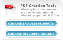 PDF Creation Tools - Allowing both the creation and the manipulation of Adobe compatible PDF Files