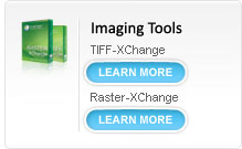 Imaging Tools - TIFF-XChange - Raster-XChange, Image Conversion Software, convert from any windows based application to 1 of 15 image formats.