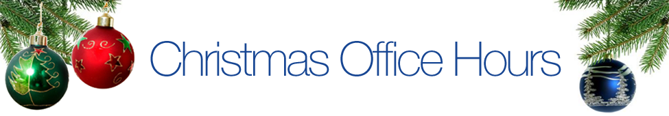 Tracker Software Products Christmas Office Hour Schedule 2015