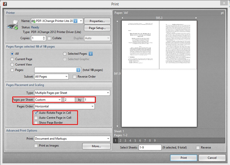 software to split pdf pages vertically