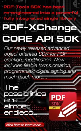 PDF-XChange Core API SDK Now Available