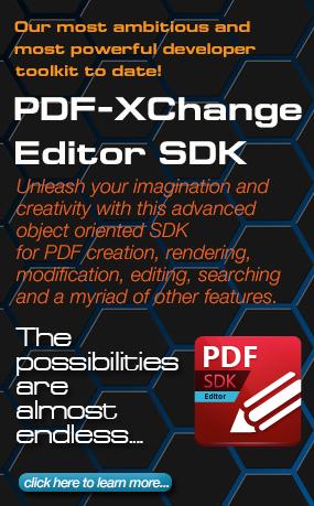 PDF-XChange Editor SDK - Available Now!