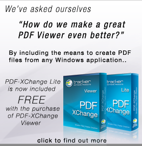 PDF-XChange Lite now Free with PDF-XChange Viewer purchase