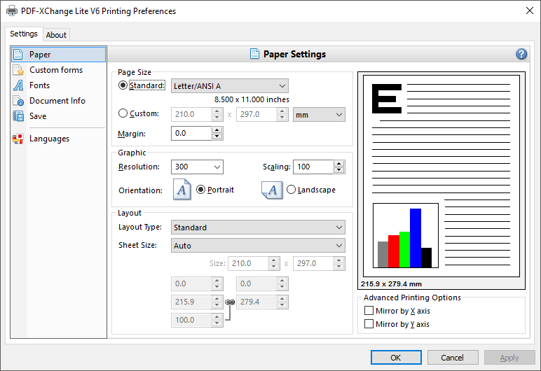 PDF-XChange Editor and Editor Plus includes the PDF-XChange Lite V6 printer