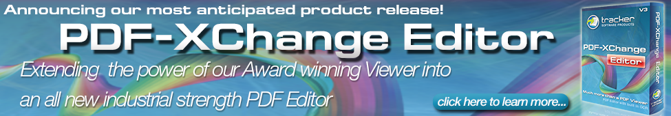 Just Released... The All New PDF-XChange Editor