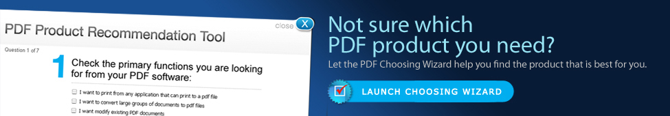 PDF Choosing Wizard