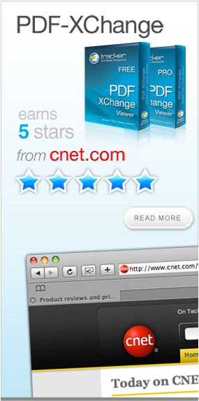 PDF-XChange Viewer awarded 5 stars from CNet