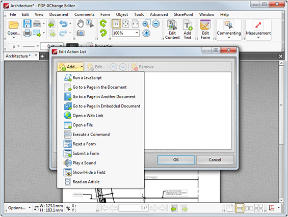 link creation tool pdf xchange