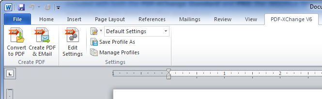 add margins in pdf xchange