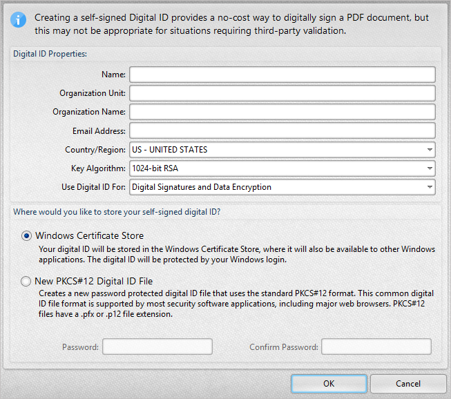 how to create a digital signature in pdf xchange