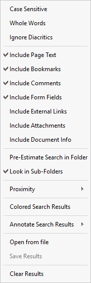 how to search text in pdf