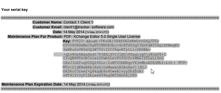 pdf xchange serial number