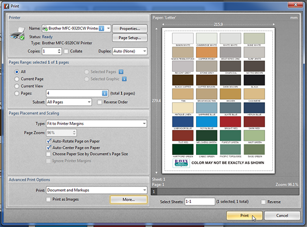 You Will Then Return To The Print Dialog And Now Preview Window Be In Color As Shown Below Can Click Button Your