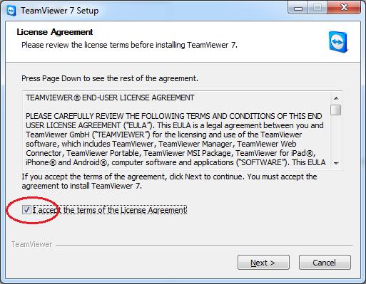 AcceptTeamViewerLicense
