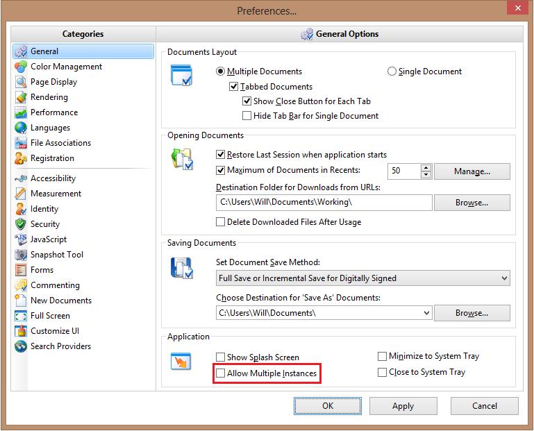 pdf xchange editor allow multiple instances