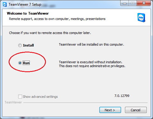 Run without Installing