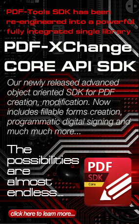 PDF-XChange Core API SDK Now Available