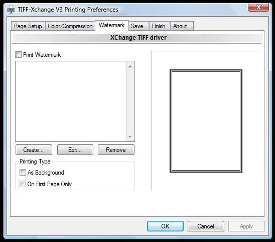 TIFF-XChange: Watermark Settings