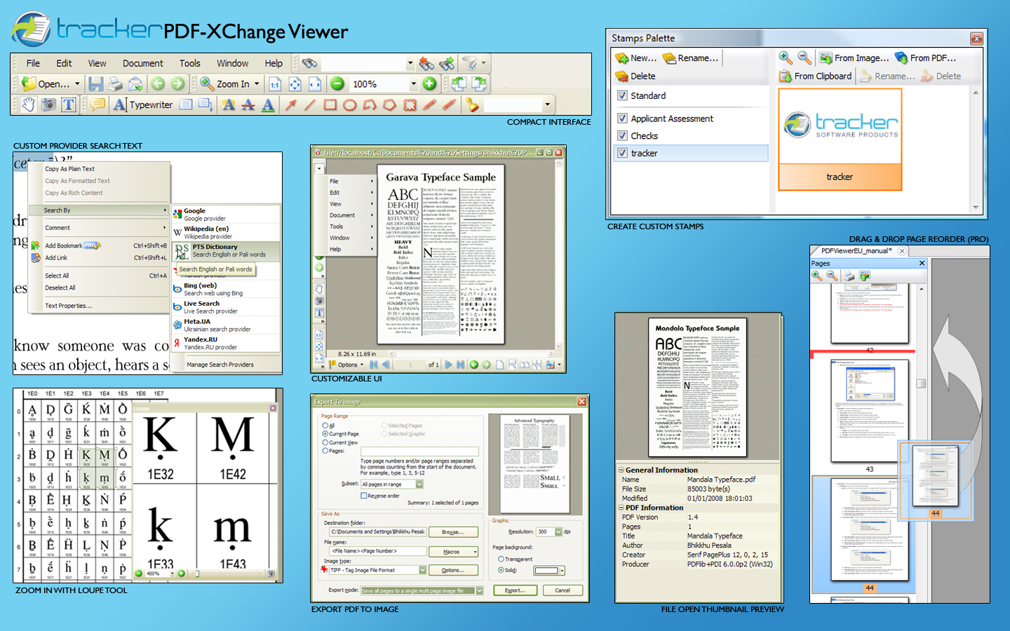 PDF-XChange Viewer has a rich feature set compared to other PDF viewers