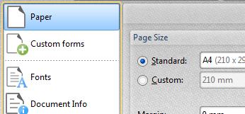 Determine Paper Settings