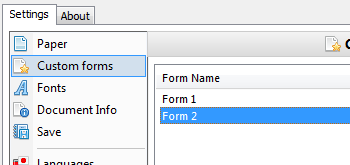 Add Custom Forms