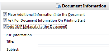 Add Document Information During Conversion