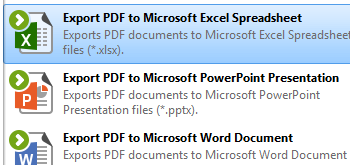 Export PDF to Microsoft Excel Spreadsheet