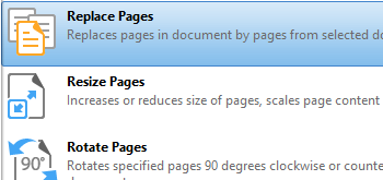 Replace Pages