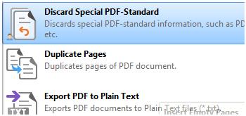 Discard PDF Standard Information