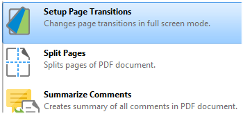 Set Up Page Transitions