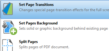 Set Page Transitions