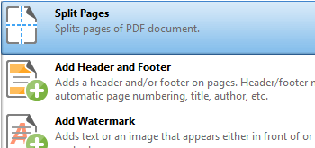 Split Document Pages