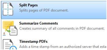 Split Document Pages