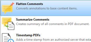 Flatten Comments