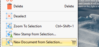 Create Documents from Selected Content