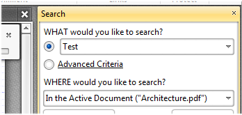 Find/Search Document Text