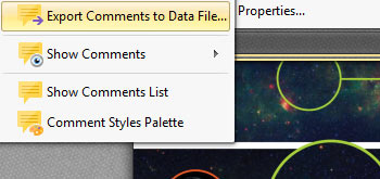 Export Comments to a Data File