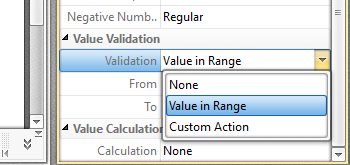 Use Forms to Calculate and Validate Values