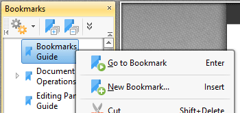 Use the Bookmarks Pane to View and Edit Document Bookmarks
