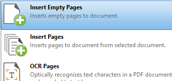 Insert Empty Pages