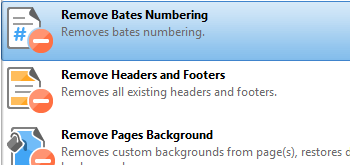 Remove Bates Numbering