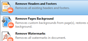 Remove Headers and Footers