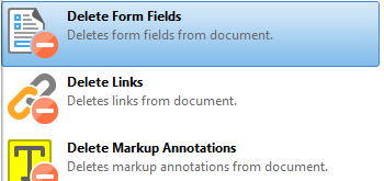 Delete Form Fields