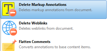Delete Markup Annotations
