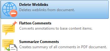 Delete Weblinks