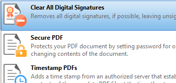 Clear Digital Signature Fields