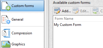 Custom Forms Settings