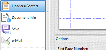 Headers and Footers Settings