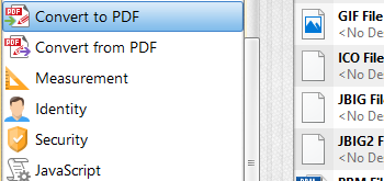 Convert Files to/from PDF