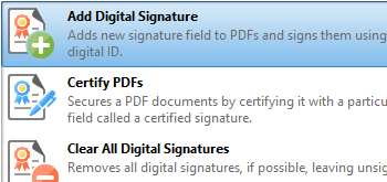 Digitally Sign Documents